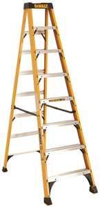 DeWalt DXL3010-08 DeWalt Ladder Dxl3010-08, 8 ft Type Ia Fiberglass Step Ladder, 300 Lb Rated
