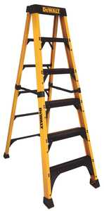 DeWalt DXL3810-06 DeWalt Ladder Dxl3810-06, 6 ft Fiberglass Heavy-Duty Step Ladder, Exceeds Ansi Type Iaa, 500 Lb Rated