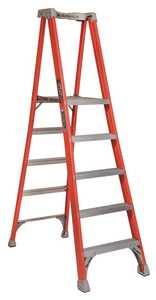 Louisville Ladder FXP1705 5 ft Type IA Fiberglass Pro Platform Ladder, 300 Lb Rated