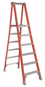 Louisville Ladder FXP1706 6 ft Type IA Fiberglass Pro Platform Ladder, 300 Lb Rated