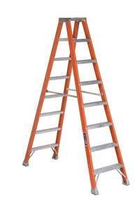 Louisville Ladder FM1508 8 ft Type IA Fiberglass Twin Step Ladder, 300 Lb Rated