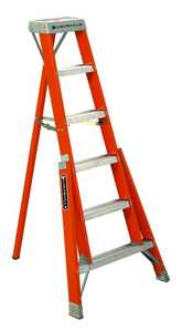 Louisville Ladder FT1006 6 ft Type IA Fiberglass Tripod Ladder, 300 Lb Rated