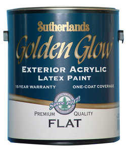 Davis Paint .24312 Golden Glow Exterior Latex Paint Flat Barn Red Gallon