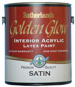 Davis Paint .31602 Golden Glow Interior Latex Paint Satin Tint Base Gallon