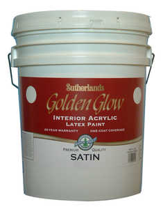 Davis Paint .31501 Golden Glow Interior Latex Paint Satin White 5 Gal