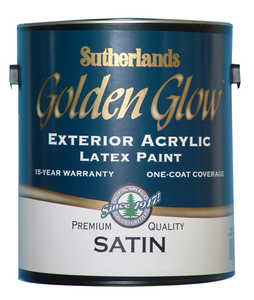 Davis Paint .40502 Golden Glow Exterior Latex Paint Satin Bright White Pastel Base Gallon