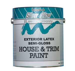 Davis Paint .44312 Silver Glow Exterior Paint Latex House & Trim Semi-Gloss Pastel Base Gallon