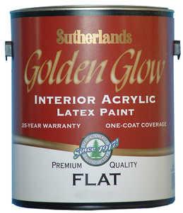 Davis Paint .55562 Golden Glow Interior Latex Paint Flat Antique White Gallon