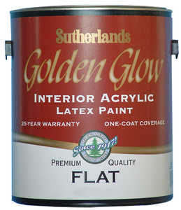 Davis Paint .55552 Golden Glow Interior Latex Paint Flat White Pastel Base Gallon