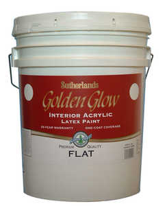 Davis Paint .55551 Golden Glow Interior Latex Paint Flat White Pastel Base 5 Gal