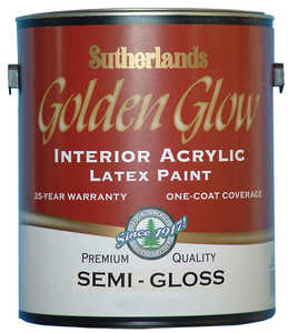 Davis Paint .57552 Golden Glow Interior Latex Paint Semi-Gloss White Pastel Base Gallon