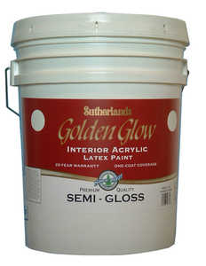 Davis Paint .57551 Golden Glow Interior Latex Paint Semi-Gloss White Pastel Base 5 Gal