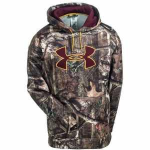 Under Armour 1249745-921-LG Large Mossy Oak Break-Up Infinity Camouflage Armour Fleece Big Logo Fishing Hooded Sweatshirt