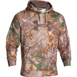Under Armour 1249745-948-XL X-Large Realtree AP Xtra Camouflage Armour Fleece Big Logo Fishing Hooded Sweatshirt