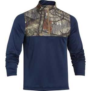 Under Armour 1259217-408-XL X-Large Academy Blue Caliber 1/4 Zip Hunting Long Sleeve T-Shirt