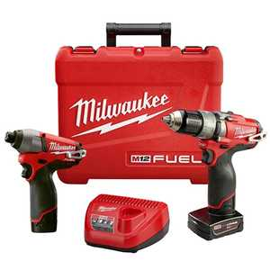 Milwaukee 2597-22 M12 Fuel 1/2 In Hammer Drill & 1/4 In Hex Impact Driver Combo Kit