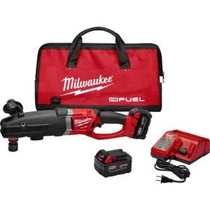 Milwaukee 2711-22 M18 Fuel Super Hawg Right Angle Drill With Quik-Lok Kit