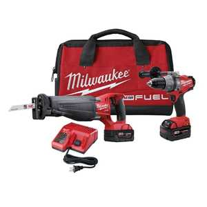 Milwaukee 2794-22 M18 Fuel 1/2-Inch Driver/Drill And Sawzall Reciprocating Saw Combo Kit