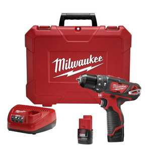 Milwaukee 2408-22 M12 3/8 in Hammer Drill/Driver Kit
