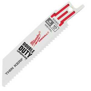 Milwaukee 48-00-5090 4 in 10 Tpi Thin Kerf Sawzall Blades (5 Pk)