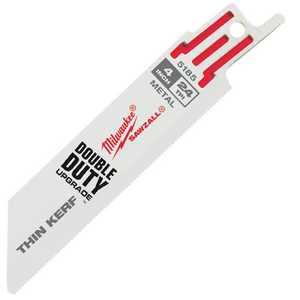 Milwaukee 48-00-5185 4 in 24 Tpi Thin Kerf Sawzall Blades (5 Pk)