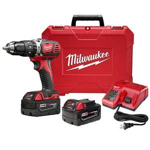 Milwaukee 2607-22 M18 1/2 in Compact Hammer Drill/Driver Kit