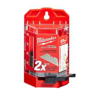 Milwaukee 48-22-1953 50 Pack Drywall Utility Knife Blades With Dispenser