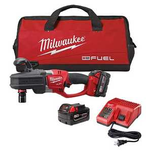 Milwaukee 2708-22 M18 Fuel Hole Hawg Right Angle Drill Kit W/Quik-Lok