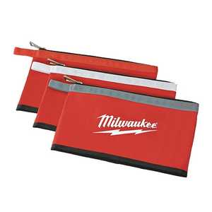 Milwaukee 48-22-8193 Red Zipper Pouch 3-Pack