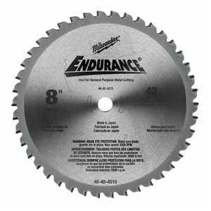 Milwaukee 48-40-4515 8 in 42 Teeth Dry Cut Cermet Tipped Circular Saw Blade