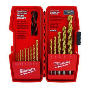 Milwaukee 48-89-0011 14 Pc Milwaukee Thunderbolt Titanium Coated Drill Bits