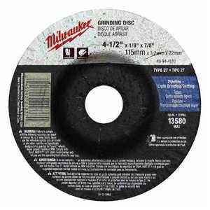 Milwaukee 49-94-4520 4-1/2 In X 1/4 In X 7/8 In Grinding Wheel (Type 27)