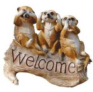 Design Toscano QL56964 The Meerkat Managerie Welcome Sculpture