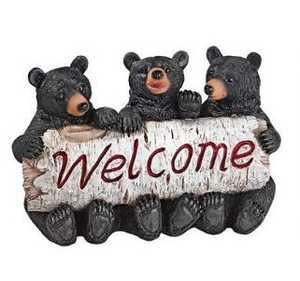 Design Toscano QL58013 Black Bear Cubs Welcome Statue