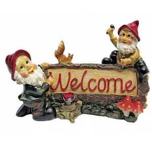 Design Toscano QL3334 Greetings From The Garden Gnomes Welcome Statue