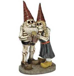 Design Toscano QM14018 Bones And Brew Skeleton Graveyard Gnomes