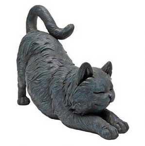 Design Toscano QL57118 Playful Cat Stretching Statue