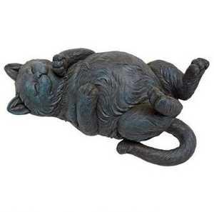 Design Toscano QL57117 Playful Cat On Back Statue