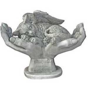 Design Toscano KY69909 In God's Hands Cat Memorial Statue