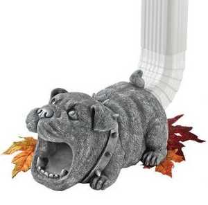 Design Toscano QM7512105 Butch The Bulldog Gutter Guardian Downspout Statue