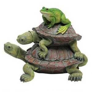 Design Toscano QM221531 In Good Company Frog And Turtles Statue