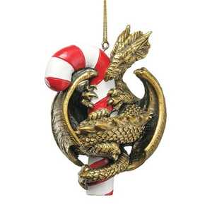 Design Toscano CL5801 Dragon With A Sweet Tooth Holiday Ornament