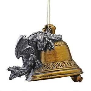 Design Toscano CL6230 Humdinger The Bell Ringer Gothic Dragon Holiday Ornament