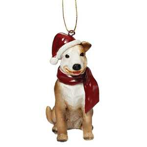 Design Toscano JH576312 Pitbull Holiday Dog Ornament Sculpture
