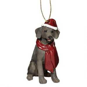 Design Toscano JH576326 Weimaraner Holiday Dog Ornament Sculpture