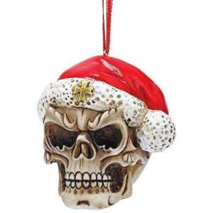 Design Toscano QS23709 Skelly Claus II Holiday Skeleton Ornament