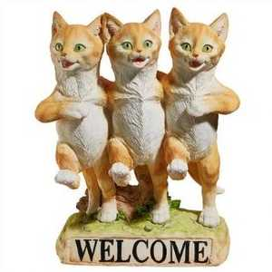 Design Toscano JQ6267 Chorus Line Of Cats Garden Welcome Statue