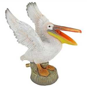 Design Toscano QM2854900 Oceanside Pelican Spitter Piped Statue