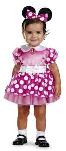 DISGUISE 11398W Pink Minnie Classic Toddler
