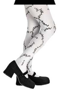 DISGUISE 14392-DISG-I Pantyhose Stitched White